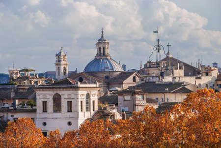 Échantillons de styles d'architecture ancienne du centre historique de Rome Banque d'images