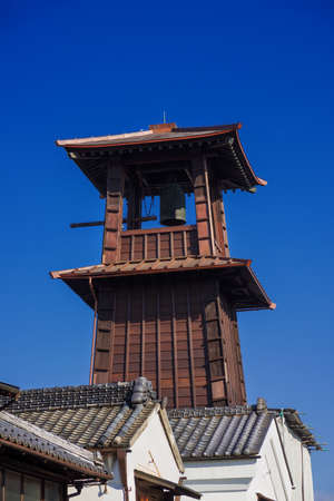 The Bell of Time, Kawagoe old bell tower now symbol of the city and tourist attraction, erected in 1894 in the 17th century original design Banque d'images