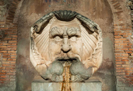 Fountain of the Mask of Saint Sabina. Aventine Hill, Rome