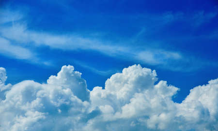 Heavenly blue sky with clouds as background