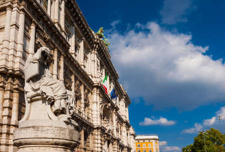 Rome old Palace of Justice with its heavy and baroque facade, also known as