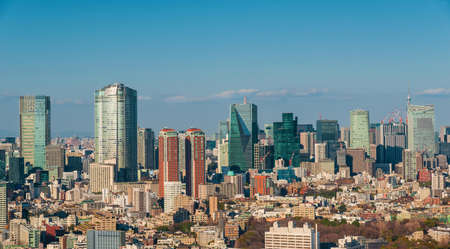 View of Roppongi skyline with modern skyscrapers in Tokyo
