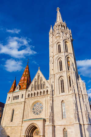 Saint Matthias Church completed in 19th century in an beautiful gothic style on the top of Castle Hill