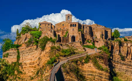 Civita di Bagnoregio the town that is dying, a beautiful and small medieval city near Rome