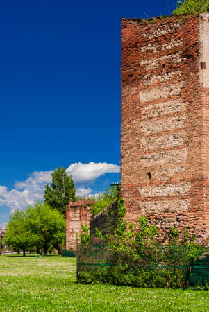 One of the last surviving sections of the Vicenza medieval walls, erected in the 14th century