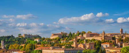 Panoramic view of the beautiful Perugia medieval historic center