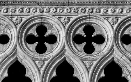 Venice gothic architecture as background (Black and White)