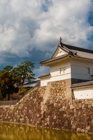 Visiting the Odawara Castle Park walls and moat, in Kanto Region.