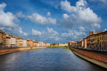 River Arno passing through the historic center of Pisa
