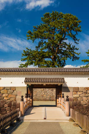 Visiting the Odawara Castle Park walls and Sumiyoshibashi bridge, in Kanto Region.