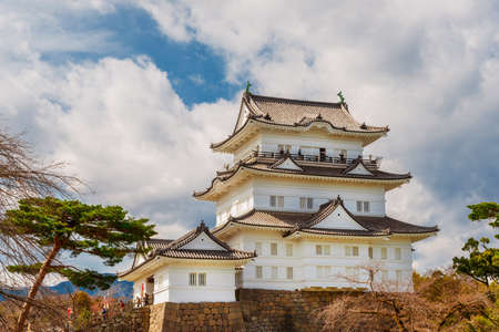 Tourists visit the Odawara Castle Park in Kanto Region, near Hakone