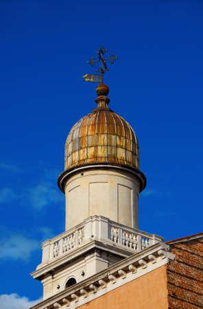 Baroque bell tower in Venice Archivio Fotografico