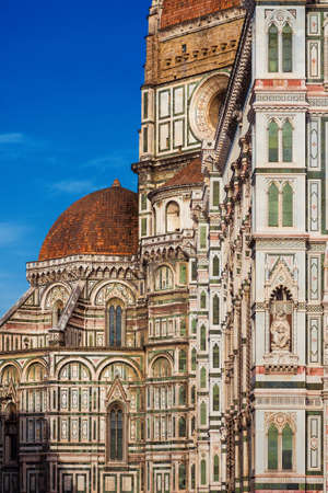 Gothic and Renaissance architecture in Florence, partial view of Santa Maria del Fiore (St Mary of the Flower) dome and chapel (14-15th century)