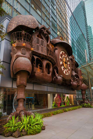 The Ghibli Clock in Shimbashi district, designed by the famous japanese anime director Hayao Miyazaki