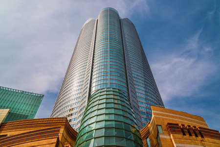 Roppongi Hills shopping and cultural center with the Mori Tower, one of the tallest building in Tokyo