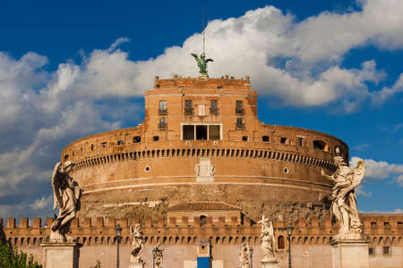 Castel Sant'Angelo (Holy Angel Castle) in Rome Editorial