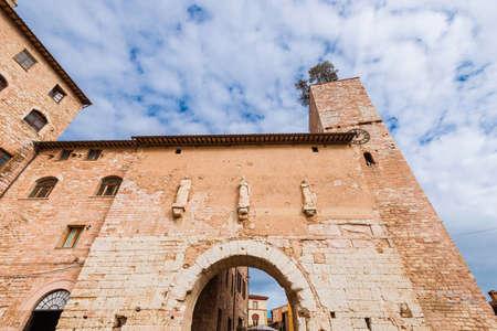 'Porta Consolare' (Consular Gate), the monumental entrance of Spello
