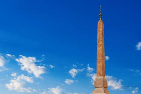 Sallustiano Obelisk under blue sky