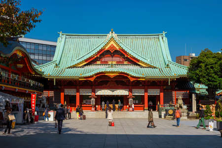 The main building of Kanda Shrine complex in Tokyo