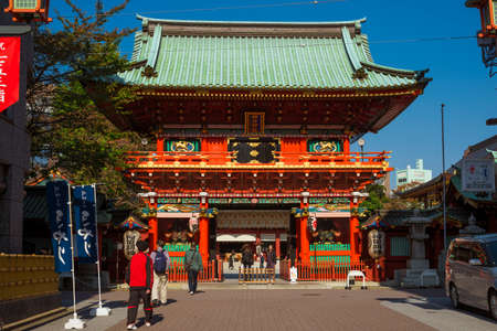 Zuishin-mon at the entrance of Kanda Shrine in Tokyo