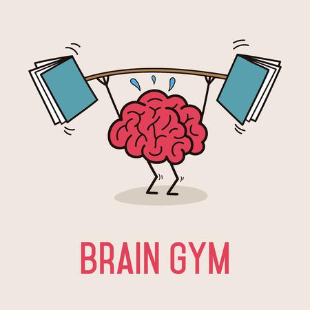 brain illustration: Brain Gym Illustration