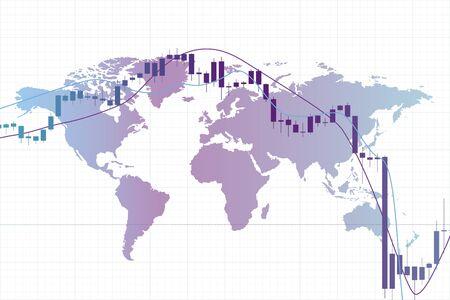 Economic crisis, global recession, concept of stock market crash. Coronavirus crisis 版權商用圖片