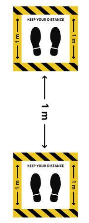 Social distancing. Keep the 1-2 meter distance. Coronovirus epidemic protective. Vector illustration