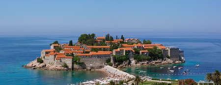 sveti: Sveti Stefan - panorama view