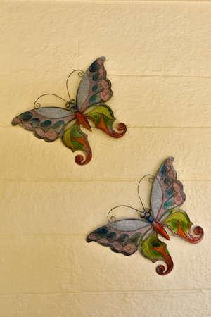 aluminum: Butterflies in aluminum leaf