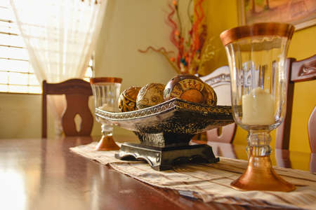 objects: Table with still life objects Stock Photo