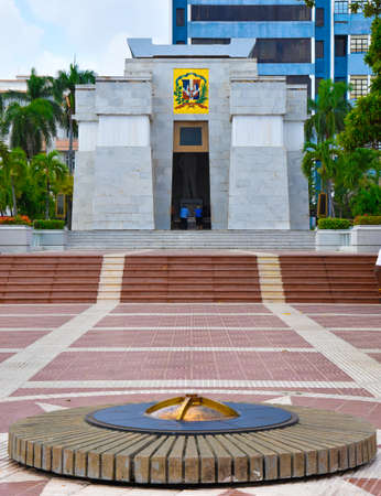 Altar de la Patria, The Altar of the Homeland. Houses the remains of the founding fathers of the Dominican Republic Duarte, Sanchez, Mella. Editorial