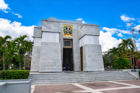 homeland: Altar de la Patria, The Altar of the Homeland. Houses the remains of the founding fathers of the Dominican Republic Duarte, Sanchez, Mella. Editorial