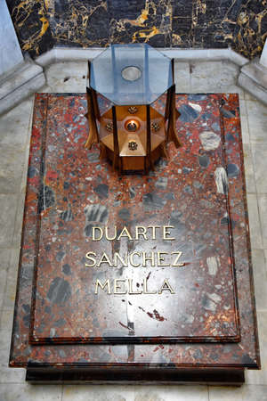 homeland: Altar de la Patria, The Altar of the Homeland. Remains of the founding fathers of the Dominican Republic: Juan Pablo Duarte, Francisco del Rosario Sanchez and Ramon Matias Mella.