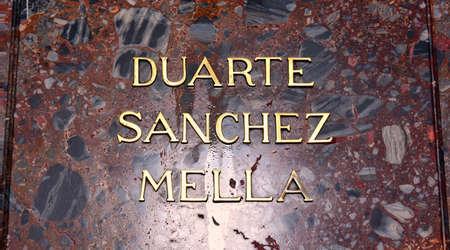 bulwark: Altar de la Patria, The Altar of the Homeland. Remains of the founding fathers of the Dominican Republic: Juan Pablo Duarte, Francisco del Rosario Sanchez and Ramon Matias Mella.
