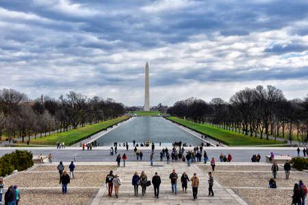 lincoln memorial: View of Abraham Lincoln Memorial. Washington DC, USA. Editorial