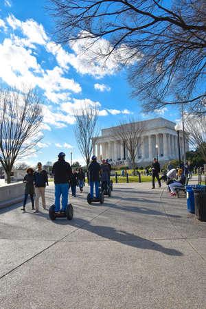 lincoln: Street life around Abraham Lincoln Memorial, Washington DC, USA.