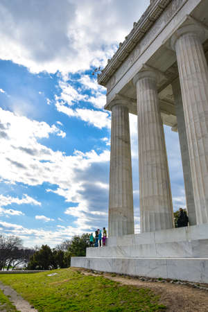 abraham: Columns of Abraham Lincoln Memorial, Washington DC, USA Editorial
