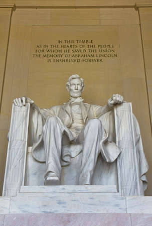 abraham: Abraham Lincoln statue in the Lincoln Memorial in Washington DC, USA.
