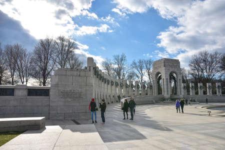 World War II Memorial, this is the Pacific side. Washington DC, USA.