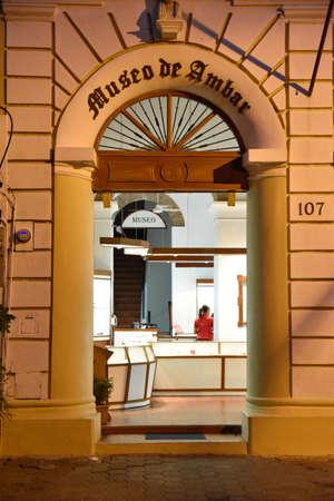 Santo Domingo, Dominican Republic. Amber Museum in Columbus Park. Editorial