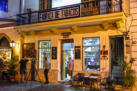 Santo Domingo, Dominican Republic. Street life and view of Calle el Conde and Colonial Zone of Santo Domingo city. Editorial