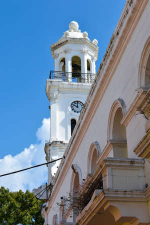 where to eat: Santo Domingo, Dominican Republic. Street life and view of Calle el Conde and Colonial Zone of Santo Domingo city. Editorial