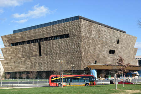 slaves: Washington DC, USA. View of the Smithsonian National Museum of African American History and Culture (NMAAHC).