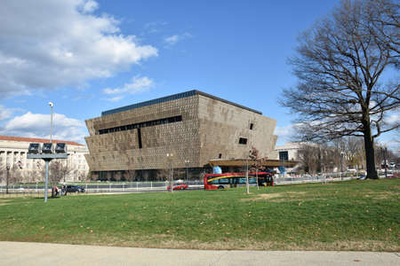black history: Washington DC, USA. View of the Smithsonian National Museum of African American History and Culture (NMAAHC).