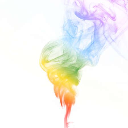 colord de arco iris de humo