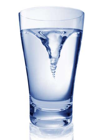 watewr swirl in glass
