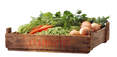 Crate of healthy vegetables from the market