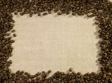 coffee beans on bag, coffee menu