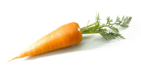 Short carrot on a white background