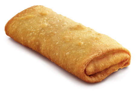 Egg roll on a white background
